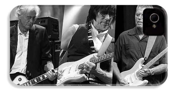 Guitar Legends Jimmy Page Jeff Beck And Eric Clapton IPhone 4s Case by Marvin Blaine