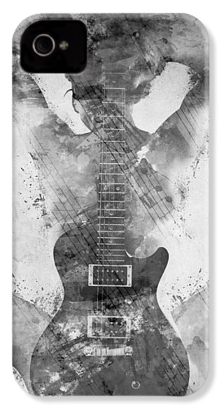 Guitar Siren In Black And White IPhone 4s Case by Nikki Smith