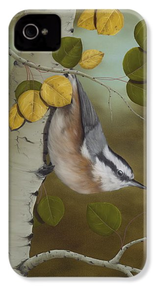 Hanging Around-red Breasted Nuthatch IPhone 4s Case