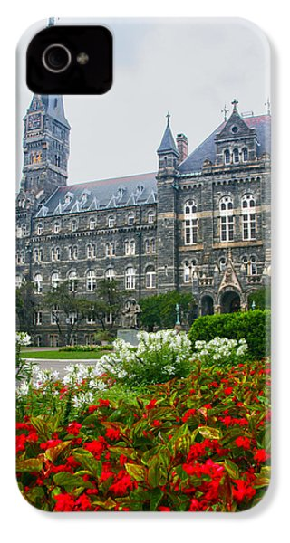 Healy Hall IPhone 4s Case by Mitch Cat