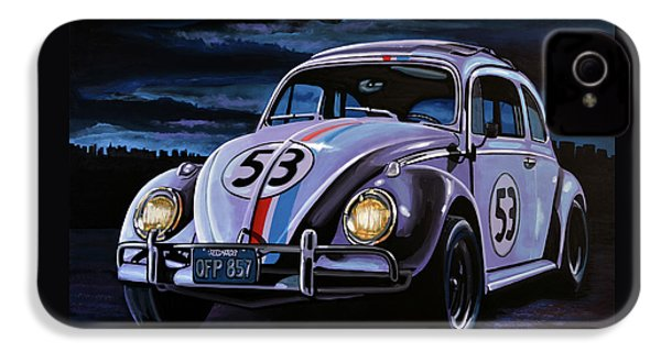 Herbie The Love Bug Painting IPhone 4s Case