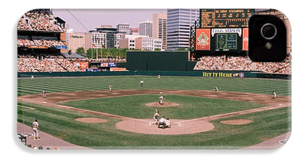High Angle View Of A Baseball Field IPhone 4s Case by Panoramic Images