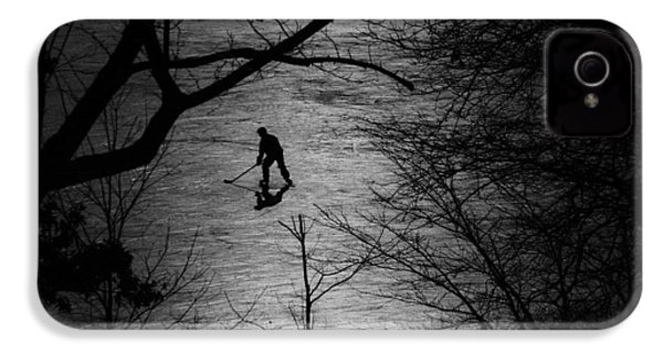 Hockey Silhouette IPhone 4s Case by Andrew Fare