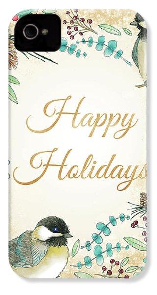 Holiday Wishes II IPhone 4s Case by Elyse Deneige