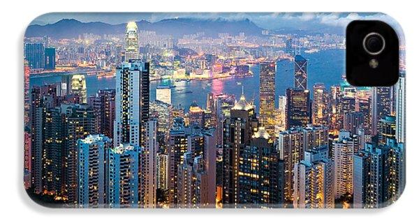 Hong Kong At Dusk IPhone 4s Case by Dave Bowman