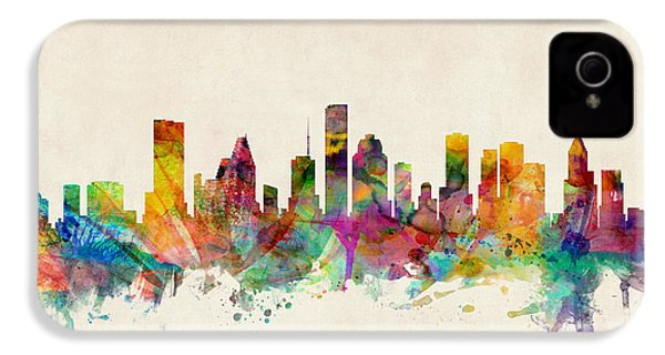 Houston Texas Skyline IPhone 4s Case by Michael Tompsett