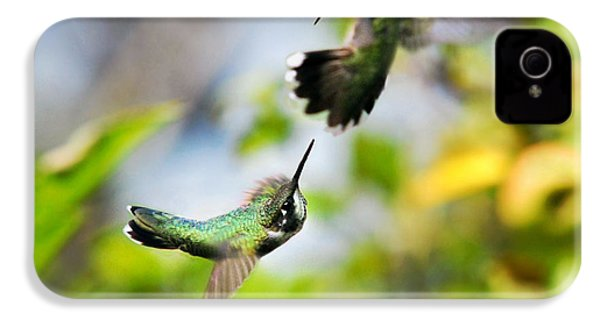 Hummingbirds Ensuing Battle IPhone 4s Case by Christina Rollo