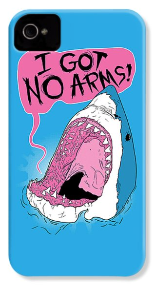 I Got No Arms IPhone 4s Case by Mike Lopez