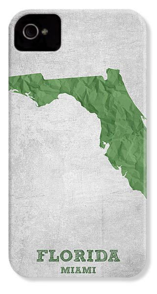 I Love Miami Florida - Green IPhone 4s Case by Aged Pixel