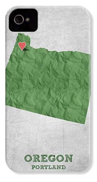 I Love Portland Oregon- Green IPhone 4s Case by Aged Pixel