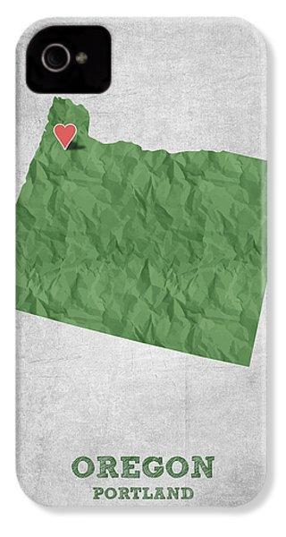I Love Portland Oregon- Green IPhone 4s Case