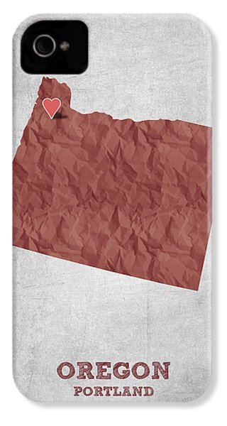 I Love Portland Oregon- Red IPhone 4s Case by Aged Pixel