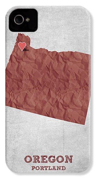 I Love Portland Oregon- Red IPhone 4s Case