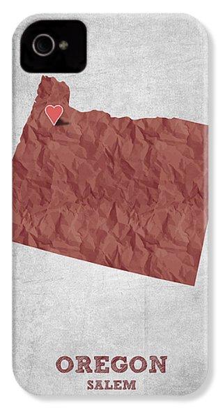 I Love Salem Oregon- Red IPhone 4s Case by Aged Pixel