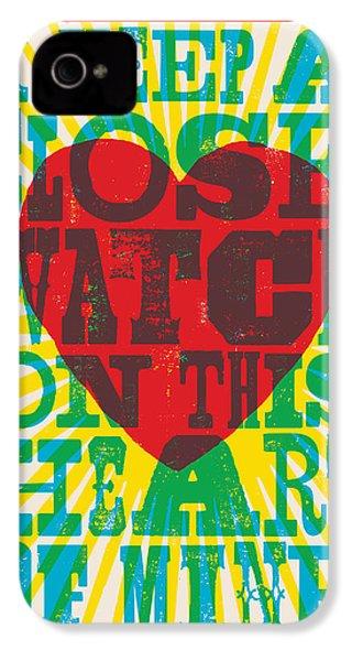 I Walk The Line - Johnny Cash Lyric Poster IPhone 4s Case