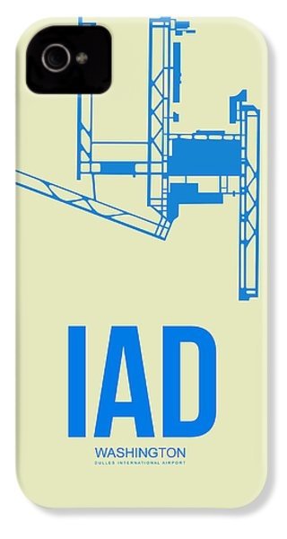 Iad Washington Airport Poster 1 IPhone 4s Case by Naxart Studio