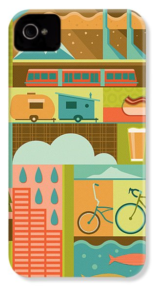 Iconic Portland IPhone 4s Case by Mitch Frey
