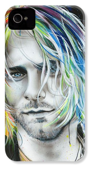 Kurt Cobain - ' In Debt For My Thirst ' IPhone 4s Case by Christian Chapman Art
