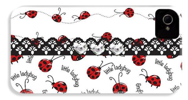 Innocent Ladybugs  IPhone 4s Case by Debra  Miller