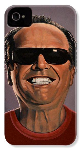 Jack Nicholson 2 IPhone 4s Case by Paul Meijering