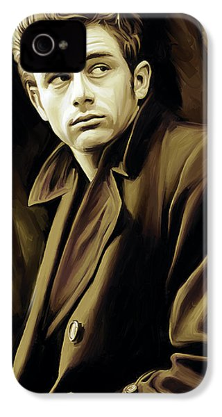 James Dean Artwork IPhone 4s Case by Sheraz A
