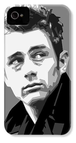James Dean In Black And White IPhone 4s Case by Douglas Simonson