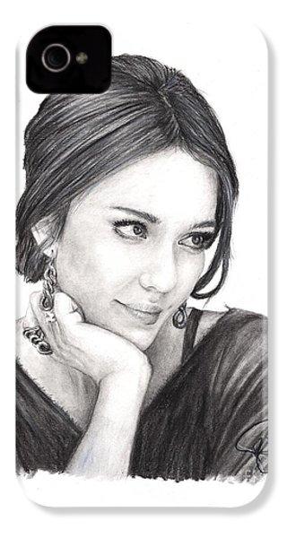 Jessica Alba IPhone 4s Case by Rosalinda Markle
