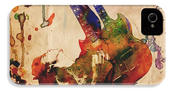 Jimmy Page - Led Zeppelin IPhone 4s Case by Ryan Rock Artist