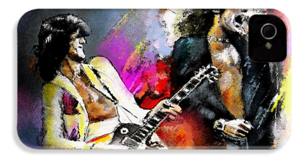 Jimmy Page And Robert Plant Led Zeppelin IPhone 4s Case by Miki De Goodaboom