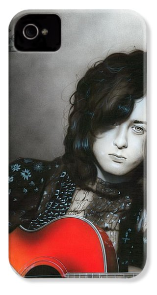 ' Jimmy Page ' IPhone 4s Case by Christian Chapman Art