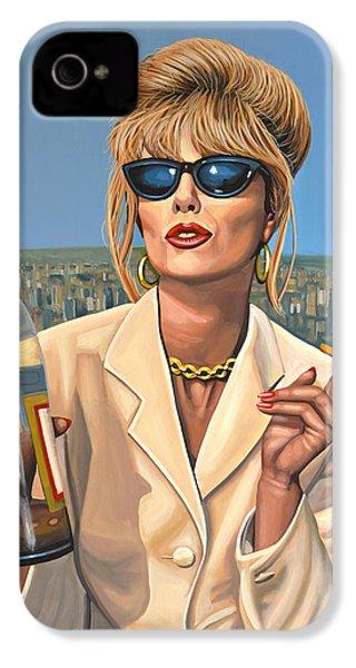 Joanna Lumley As Patsy Stone IPhone 4s Case by Paul Meijering