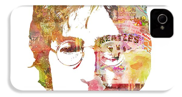 John Lennon IPhone 4s Case by Mike Maher