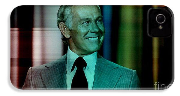 Johnny Carson IPhone 4s Case by Marvin Blaine