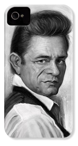 Johnny Cash IPhone 4s Case by Andre Koekemoer