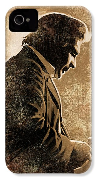 Johnny Cash Artwork IPhone 4s Case by Sheraz A