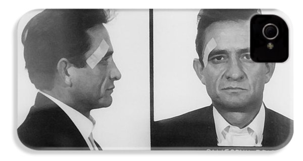 Johnny Cash Folsom Prison IPhone 4s Case by David Millenheft