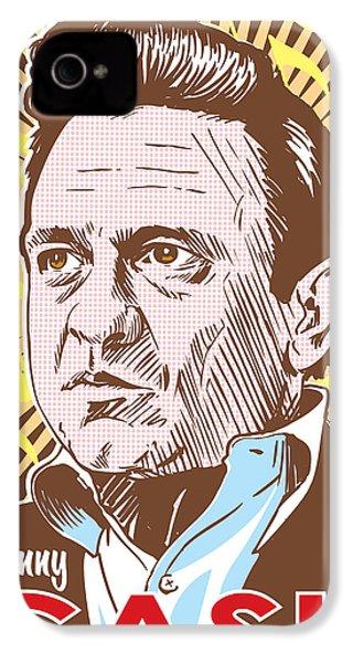 Johnny Cash Pop Art IPhone 4s Case by Jim Zahniser