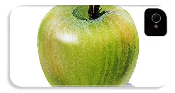 IPhone 4s Case featuring the painting Juicy Green Apple by Irina Sztukowski