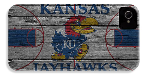 Kansas Jayhawks IPhone 4s Case by Joe Hamilton