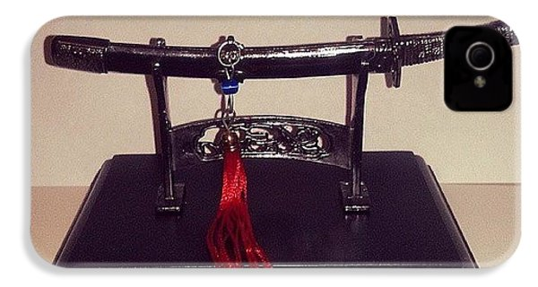 #katana #decorative #miniature #weapon IPhone 4s Case by Alvaro Martinez Celestino