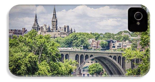 Key Bridge And Georgetown University IPhone 4s Case by Bradley Clay