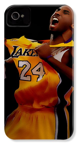 Kobe Bryant Sweet Victory IPhone 4s Case by Brian Reaves