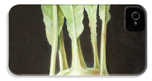 Kohl Rabi, 2012 Acrylic On Canvas IPhone 4s Case by Lincoln Seligman