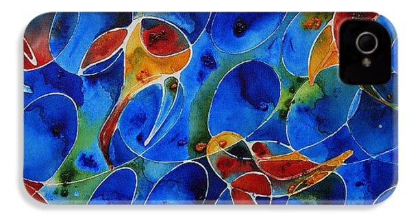 Koi Pond 2 - Liquid Fish Love Art IPhone 4s Case by Sharon Cummings