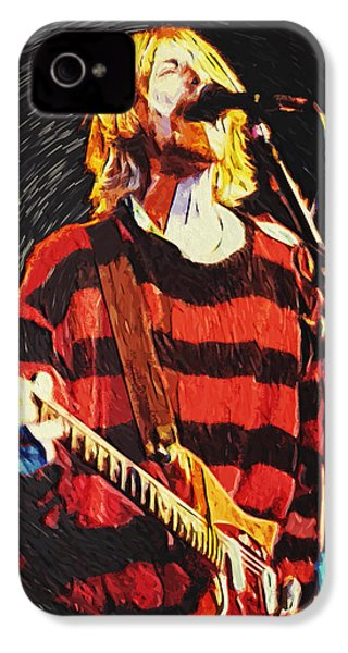 Kurt Cobain IPhone 4s Case by Taylan Apukovska