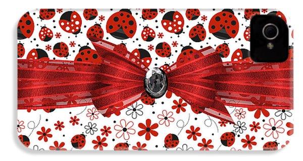 Ladybug Magic IPhone 4s Case by Debra  Miller