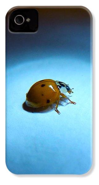 Ladybug Under Blue Light IPhone 4s Case by Marc Philippe Joly