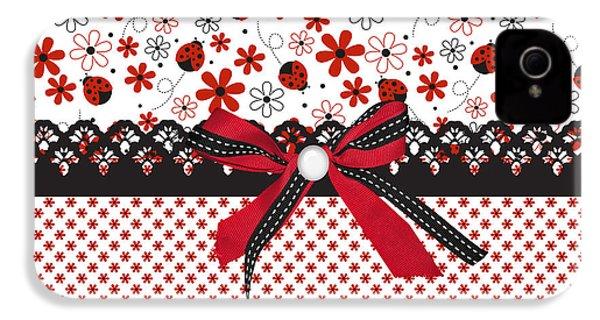 Ladybug Whisper  IPhone 4s Case by Debra  Miller