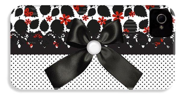 Ladybugs Leaves  IPhone 4s Case by Debra  Miller
