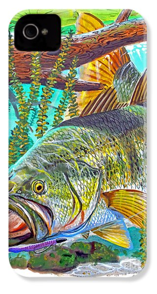 Largemouth Bass IPhone 4s Case by Carey Chen